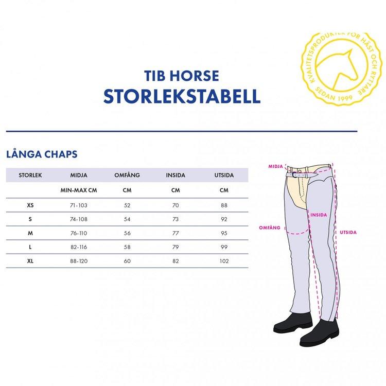 TIB Horse Långa Chaps i Läder - Svart