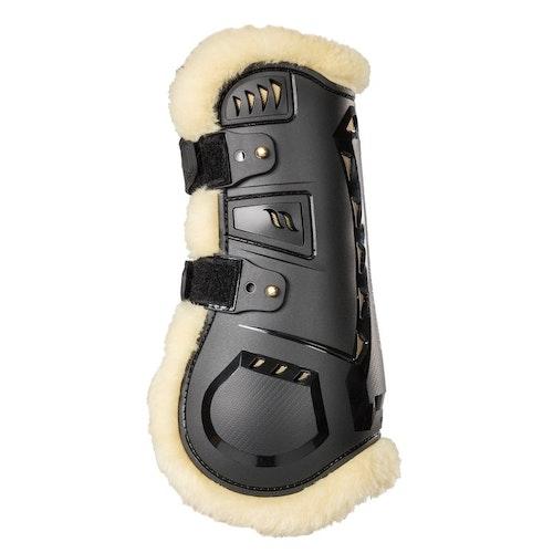 Back On Track Airflow Fur Tendon Boots Senskydd, Svart