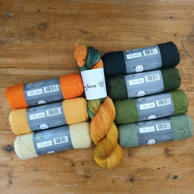 Høst på Lågastien -tynt sokkegarn