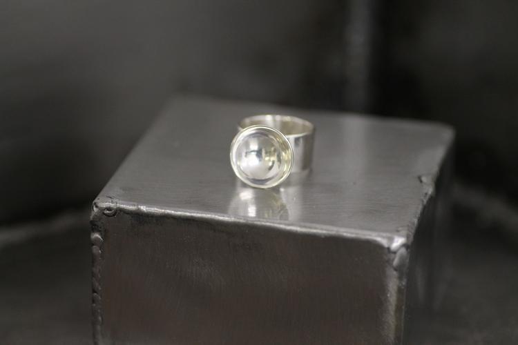 BOWL - Bred silverring med skål