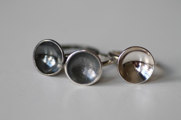 SKÅL - Silverring med skål