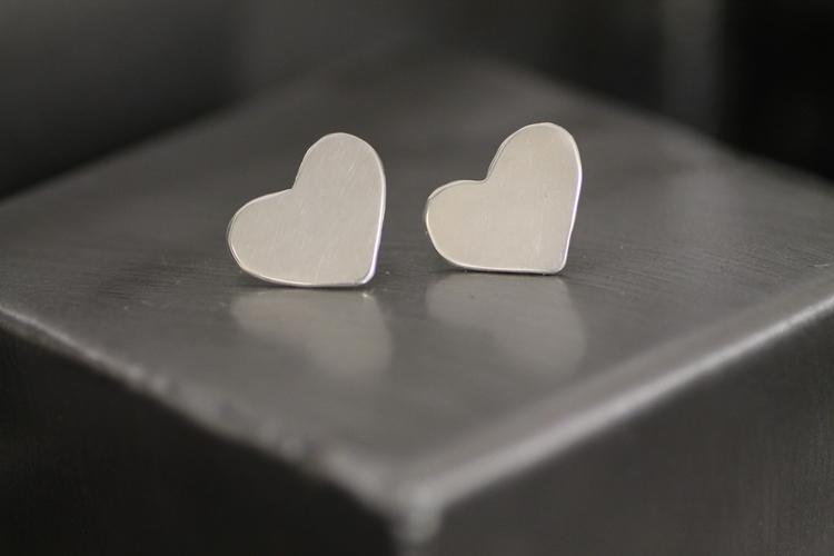 HEART - Hjärtörhängen i silver