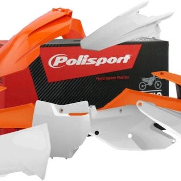 Polisport Plastic Kit Oem.16 inc Airbox White