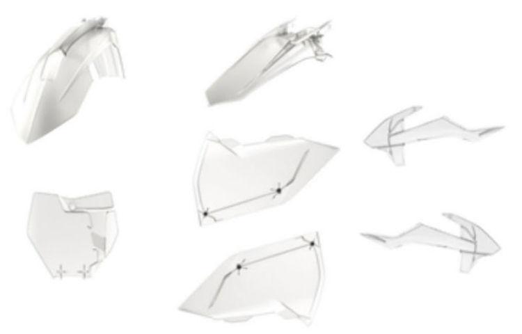 Polisport MX Complete Kit KTM, clear