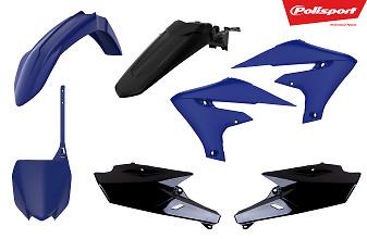 Polisport Plastic Kit Blue Yam/Black 18-19