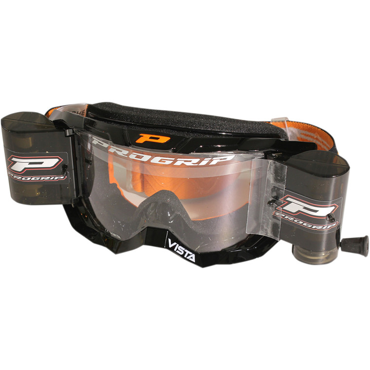 PRO GRIP GOGGLES VISTA MX AMERICA WITH ROLL OFF 3303 BLACK