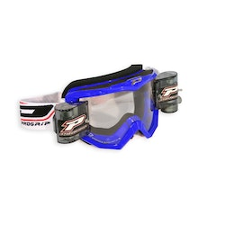 PRO GRIP GOGGLES MX/ENDURO WITH ROLL OFF BLUE 3208 LENS CLEAR