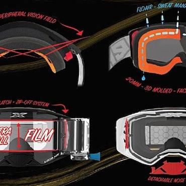 EKS Lucid Race Pack Goggle, Black/White