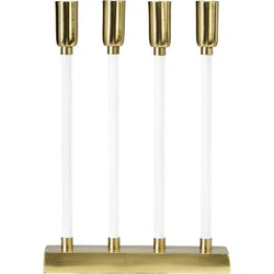 PR Home Adventsljusstake Raw Candle 5 Flat Mässing