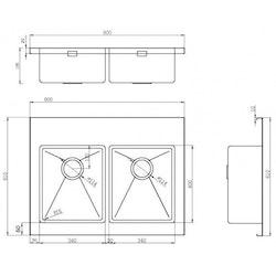 Strand Stainless Diskbänk STWT80D20