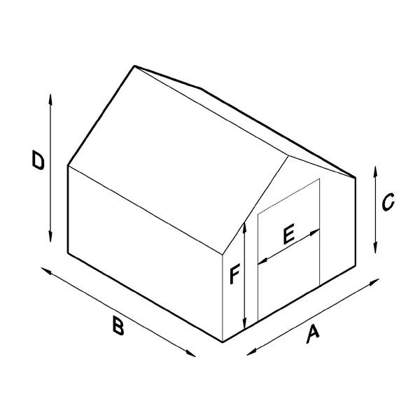 Lähe Träväxthus på mur No 4 3 x 4,9 m (14,7 m2)