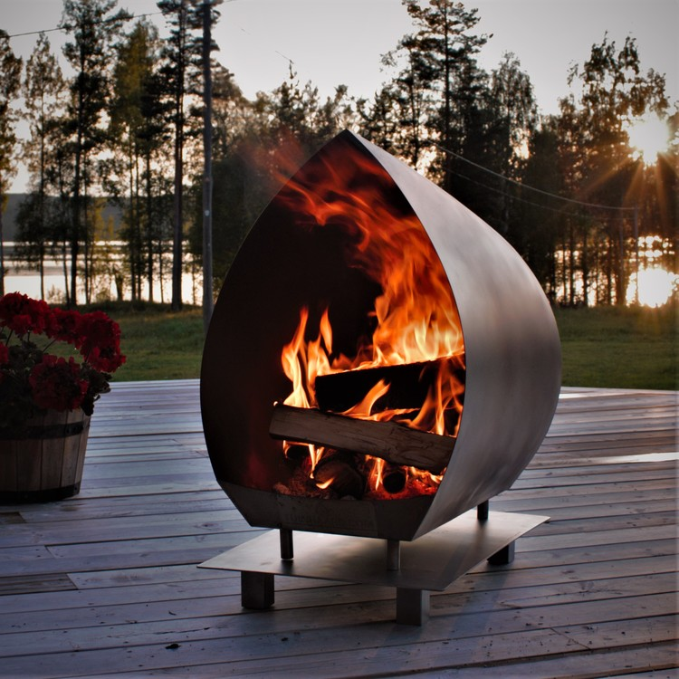 Garden Fire Magma Rostfri