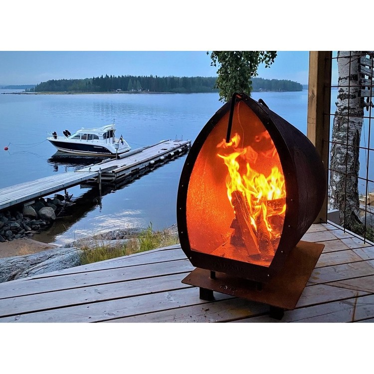 Garden Fire Magma Gnistgaller Rostfri
