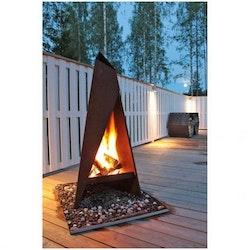 Garden Fire Eldstadsplan 100 - Corten