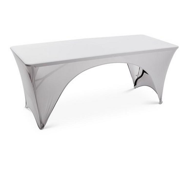 Briv Stretchduk Spandex Silvergrå