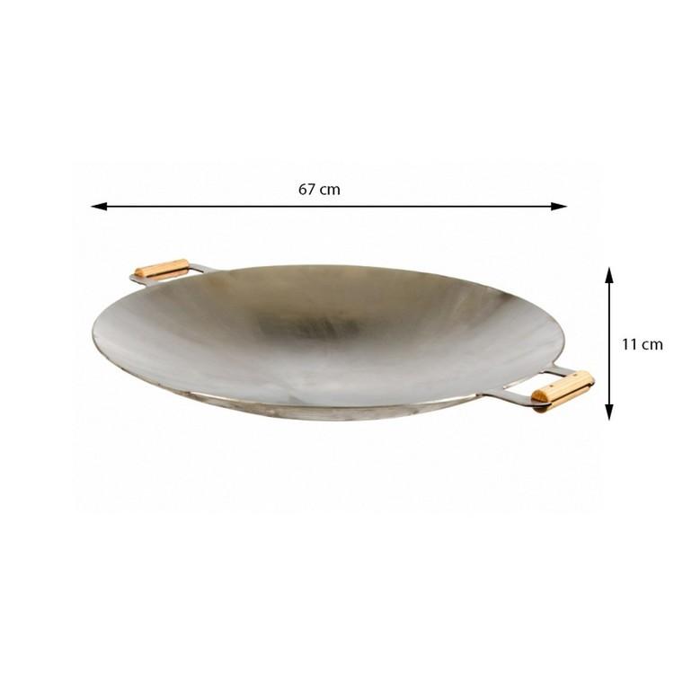 GrillSymbol Wok-panna 675 mått