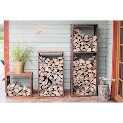 Vedförvaring Set Corten WoodStock