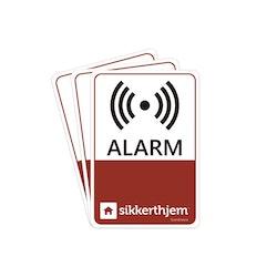 Sikkerthjem 3 x Preventiva Alarmdekaler