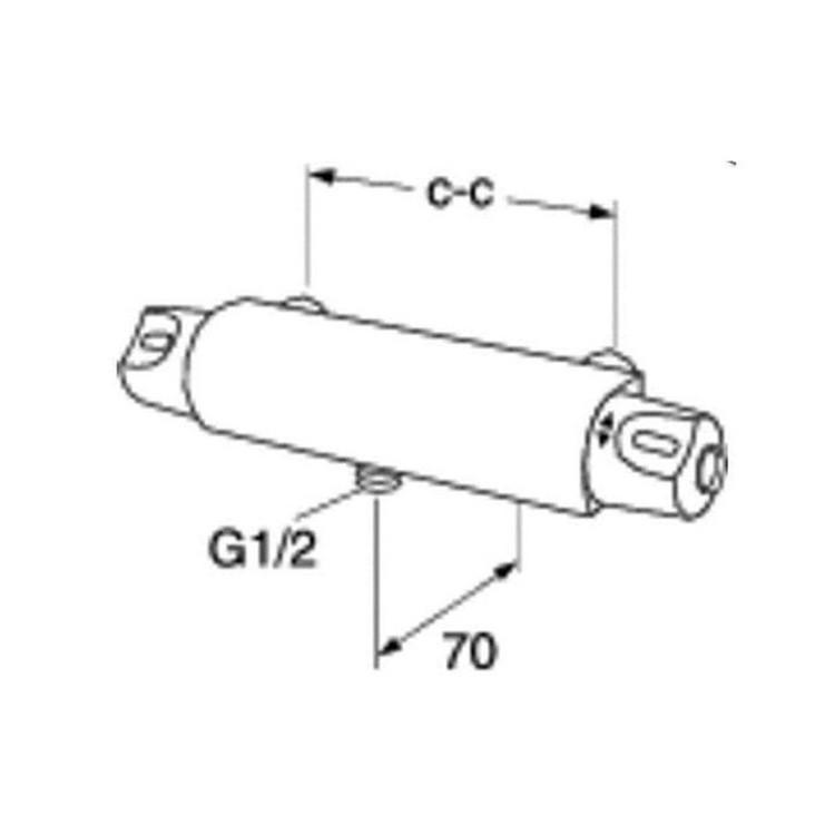 Gustavsberg Standard Badrumspaket måttskiss