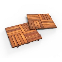 Interbuild Akacia Brun Trall 30x30 10-pack