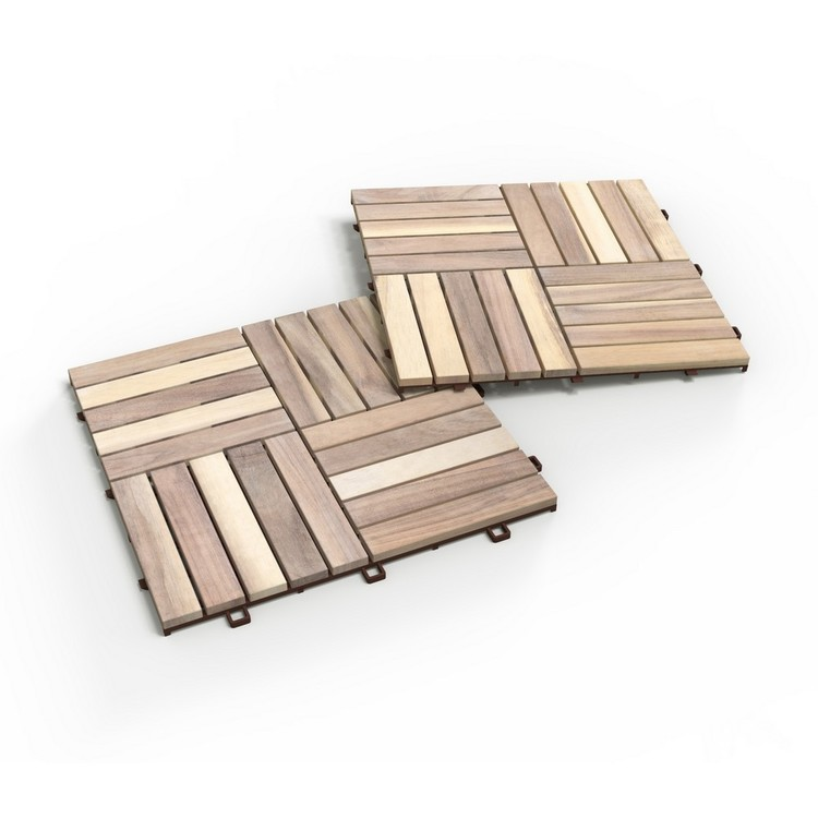 Interbuild Akacia Trall 30x30 Ekologisk vit 10-pack