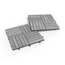Interbuild Akacia Skymgrå Trall 30x30 10-pack