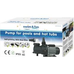 Swim & Fun Cirkulationspump 250W Självsugande och förfilter