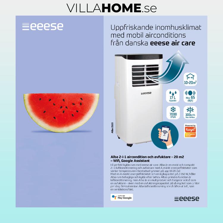 EEESE 7000 BTU Alba 2in1 Luftkonditionering WiFi AC