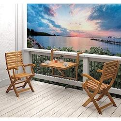 Interbuild Toronto Balkongbord & Casino Trädgårdsfåtölj Set