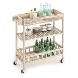 Interbuild Holger SUV Serveringsvagn Organic White