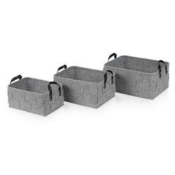 Möve Korgar Set x3 Flannel Light Grey