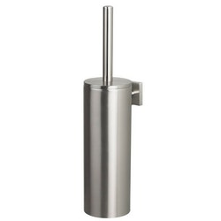 Spirella Toalettborste Nyo Steel Brushed Vägg