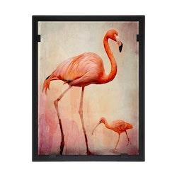 Glasvision Glastavla Flamingo