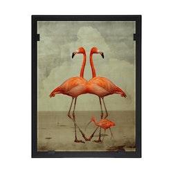 Glasvision Glastavla Flamingoduo