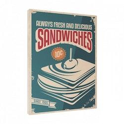 Estancia Tavla Canvas Retro Food Sandwich