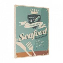 Estancia Tavla Canvas Retro Food Seafood