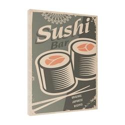 Estancia Tavla Canvas Retro Food Sushi