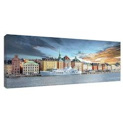 Estancia Tavla Canvas Stockholm Gamla Stan Sunset