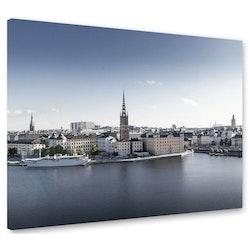 Estancia Tavla Canvas Stockholm Blue Sky