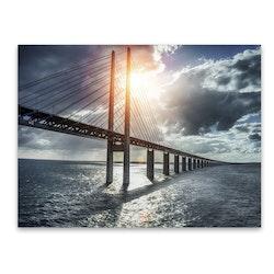 Estancia Tavla Canvas Öresundsbron Sunset