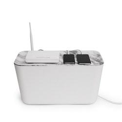 Bosign Kabellåda Cable Organiser XXL Vit/Marmor