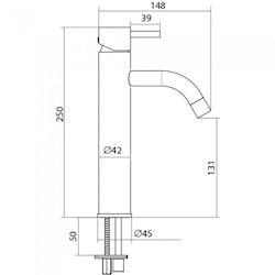 Strand Stainless Tvättställsblandare Koster Slim KS-2101