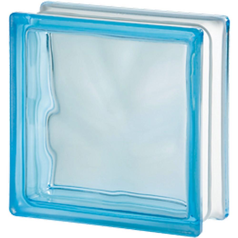 Glasbetong Glasblock Molndekor Ljusblå 10 st