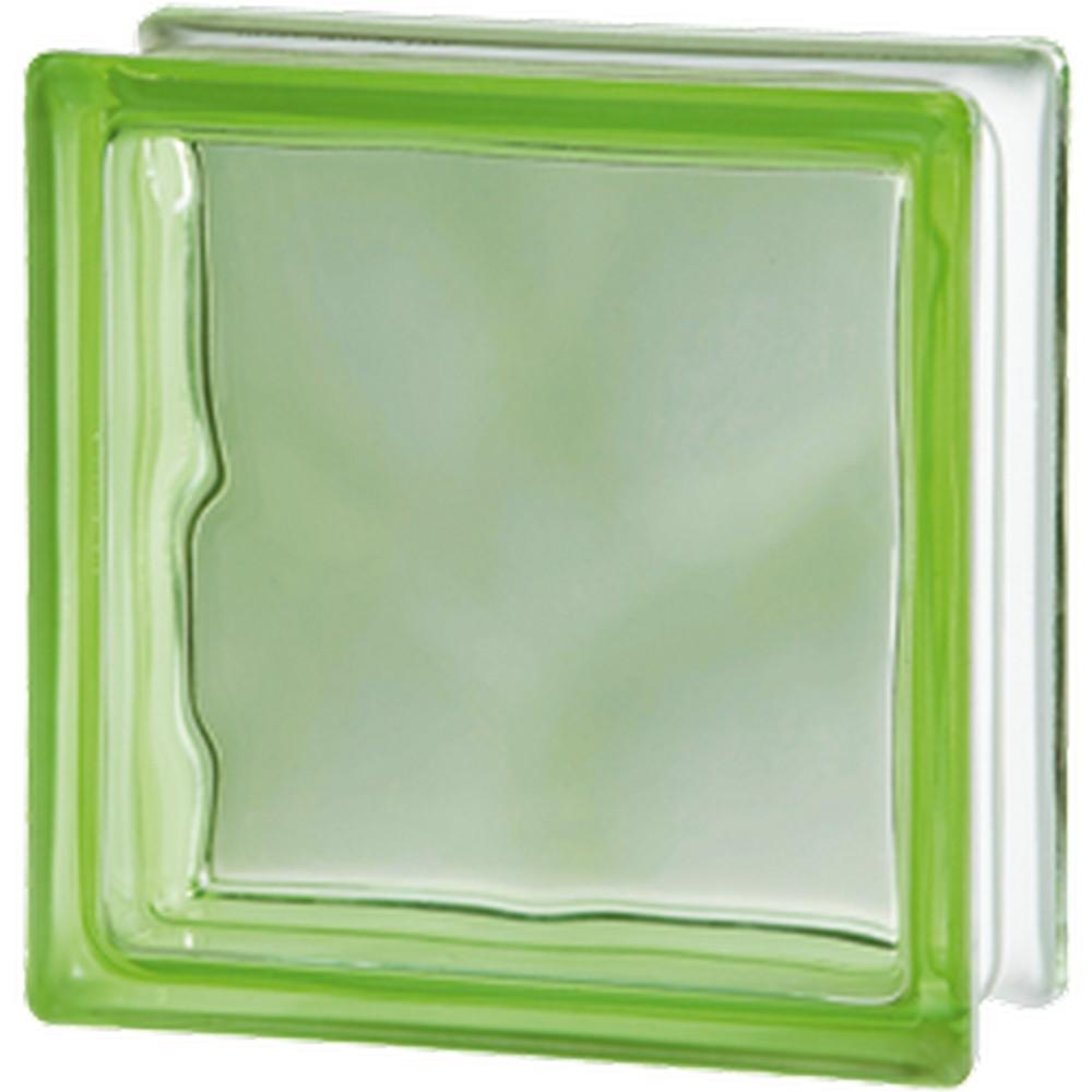 Glasbetong Glasblock Molndekor Grön 10 st