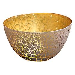 Nybro Crystal Skål Croco Vit/Guld