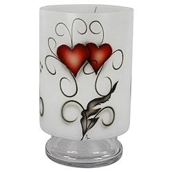 Nybro Crystal Stormlykta Heart Crystal Ink