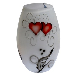Nybro Crystal Vas Heart Crystal Ink Konvex