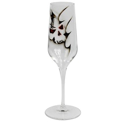 Nybro Crystal Champagneglas Dödskalle 2-pack