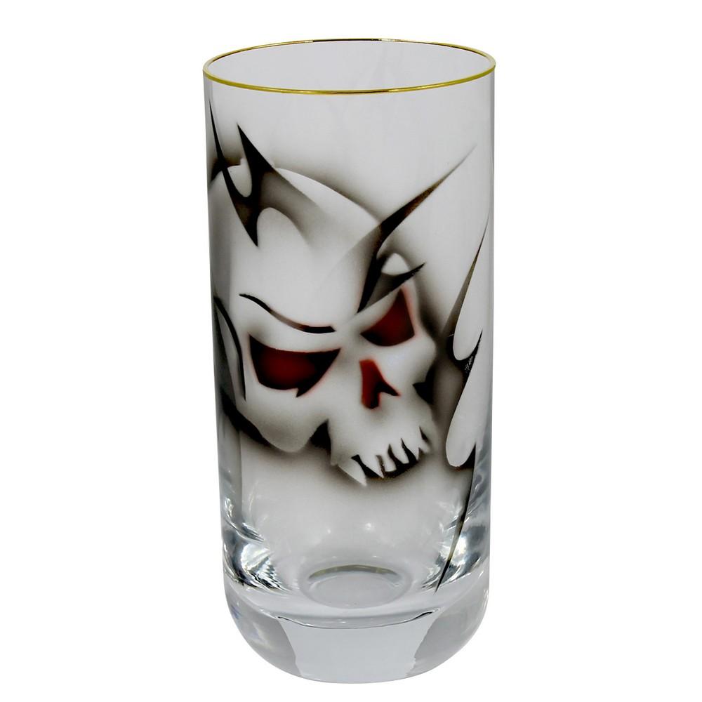 Nybro Crystal Longdrinkglas Dödskalle