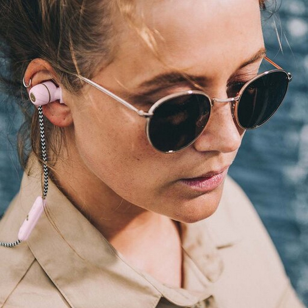 Kreafunk Hörlurar In-Ear aVIBE Dusty Pink/Pale Gold